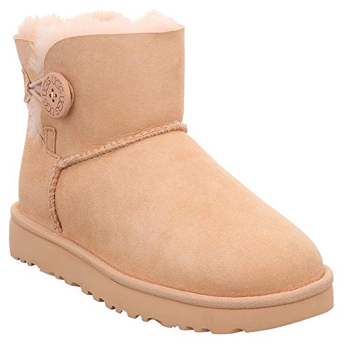 UGG Australia Donna Mini Bailey Button II Suede Redwood Stivali 40 EU