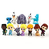 3-6Cm 12 Unids / Set Frozen 2 Elsa Anna Kristoff Olaf Fire Elves Linda Mini Figura De Acción Modelo ...