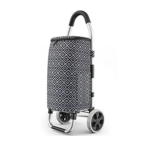 Carritos de la compra Carrito de compras de 2 ruedas Carrito de compras plegable, compras de gran capacidad liviana Carrito de equipaje de compras Trolley Pull Carrito Push Push Capacidad máxima 50kg
