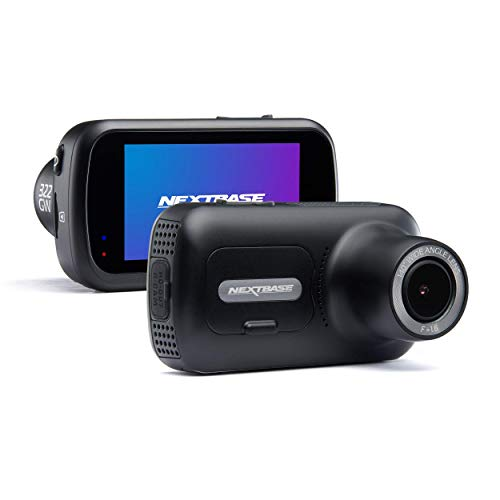 "Nextbase 322GW Full 1080p/ 60fps 2.5"" High Resolution HD Front In Car Dash Cam Camera -GPS -WIFI - Bluetooth- SOS Emergency- Night Vision, Auto Recording -Black"