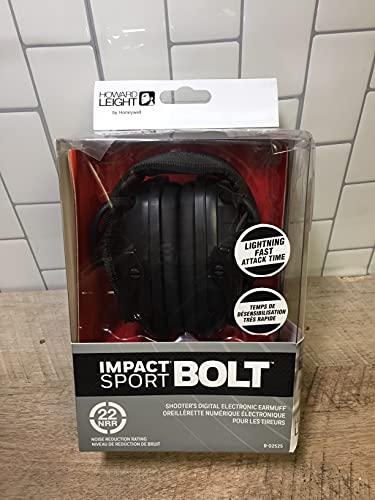 Howard Leight Impact Sport Bolt Digital Electronic Shooting Earmuff, Black