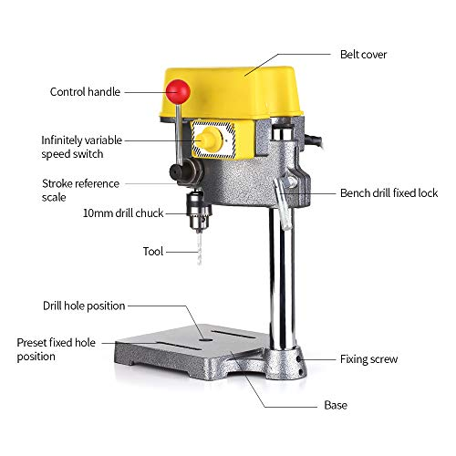 Fantastic Deal! N / A Drill Press, 450W Adjustment Electrical Machinery Drill Stand Table Clamp Mini...