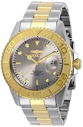Invicta Relógio masculino de quartzo Pro Diver com pulseira de aço inoxidável, dois tons, 22 (modelo: 29950)