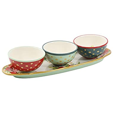 The Pioneer Woman Garland Condiments Dish Bowl Platter Set 4 Piece