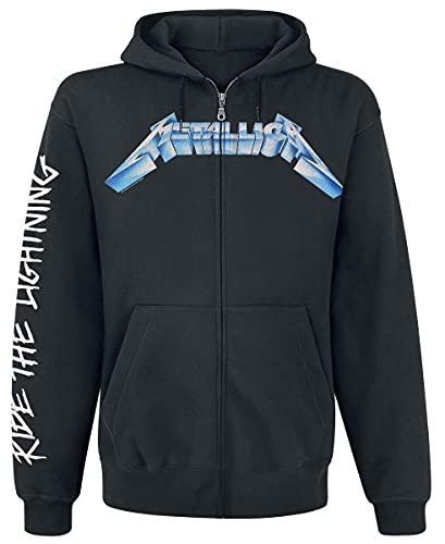 Metallica Ride The Lightning Capucha con Cremallera Negro M