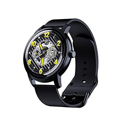 PYAIXF Reloj Inteligente,Pantalla táctil Deportiva 2.5D Rastreador de Fitness Rastreador de sueño Rastreador de Actividad Seguimiento de natación 14 días de duración de la batería 2 Colores-Black