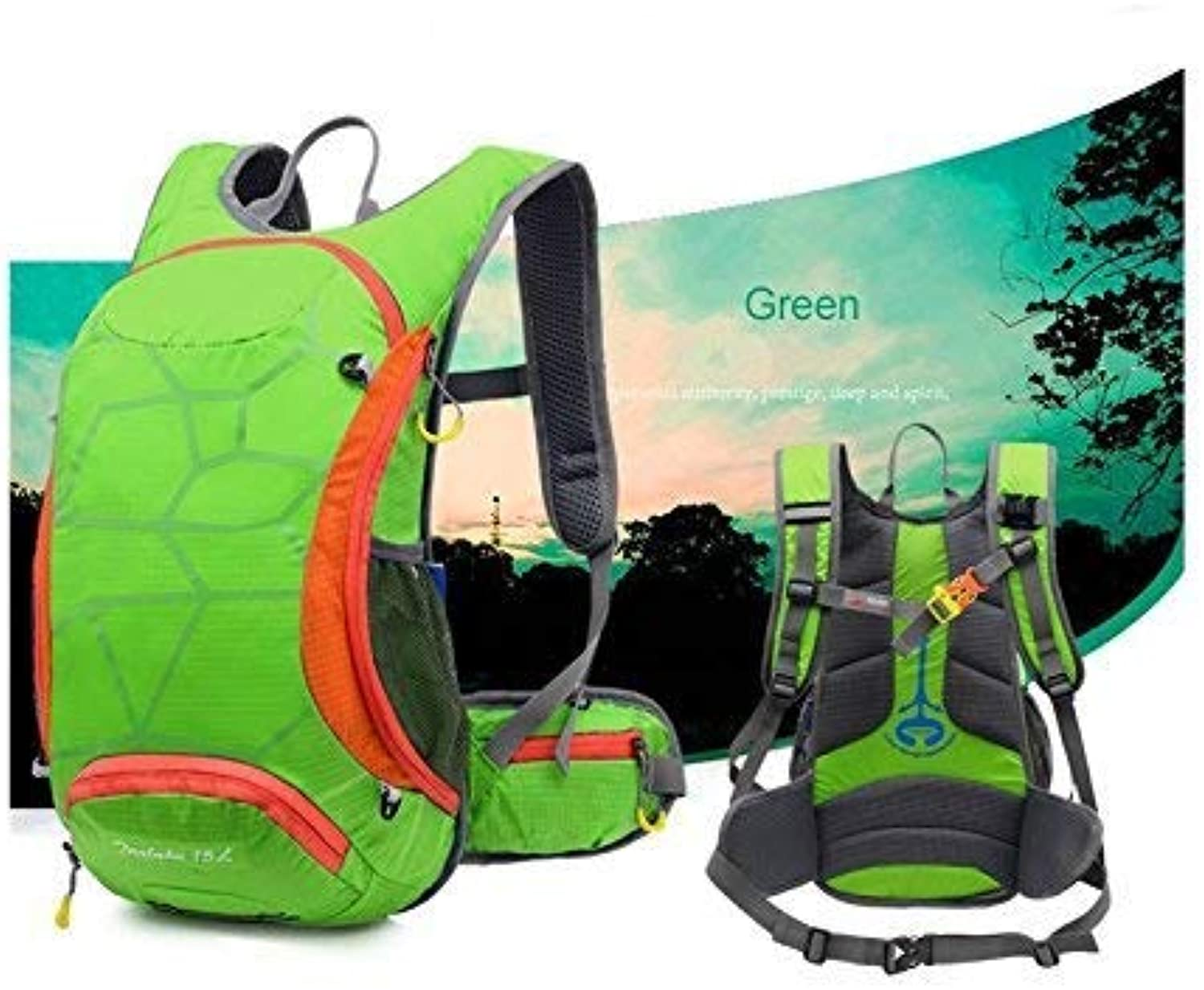 Outdoor Bags, Outdoor and Indoor Outdoor Ultra Light Breathable Climbing Backpack Hiking Backpack(Green)