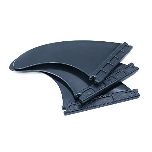 Namvo Future - Juego de aletas de plástico para tabla de surf G5, color negro