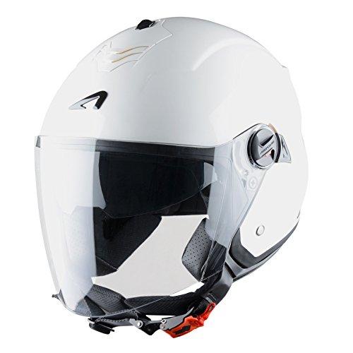 Astone Helmets Mini Jet, Casco Jet, color Blanco Brillante, talla XL