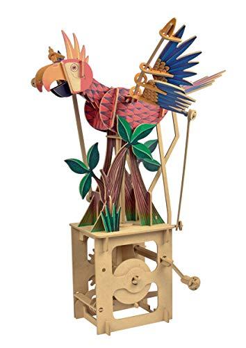 Clockwork Dreams Automata Kit - Storybook Series - Mini Machine Wood Kit (Parrot)
