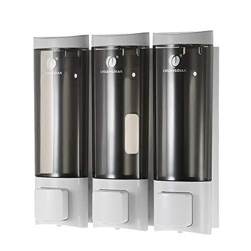 Kaper Go AAA 200ml3 dispensador de jabón, champú dispensador del gel, bomba de líquido acondicionador, de montaje en pared de gran capacidad desinfectante de la mano de botella for el resto de habitac