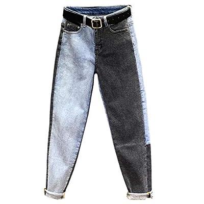 HOSDJeans Female High Waist Denim Long Trousers for Women Fashion Straight Feet Jeasn by HOSD