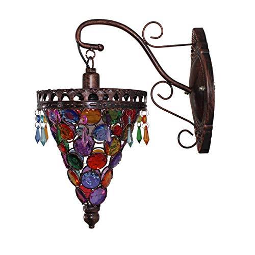 Lámpara de pared turca marroquí americana rural cabecera apliques vintage estilo tailandés luces de pared para dormitorio salón pasillo café, E14