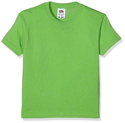 Fruit of the Loom Jungen T-Shirt Ss132b, Grün (Lime), 3-4 Jahre
