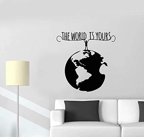 Adhesivo de pared Vinilo ecológico Human Planet Earth World Arte decorativo