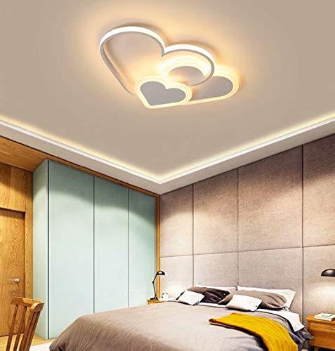 Preisvergleich Produktbild GUANSHAN 3D Deckenleuchte LED Creative Stereoscopic Hearts Deckenleuchte Beleuchtung für Jungen Mädchen Schlafzimmer Kindergarten,  Warmes Licht,  30W,  Weiß