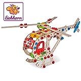Eichhorn - 100039048 - Jeu de Construction Bois - Helicoptère 5 en 1 - 225 Pièces Bois
