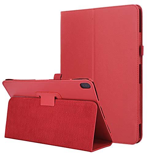 Lobwerk Hülle für Lenovo Tab E10 TB-X104F 10.1 Zoll Slim Hülle Etui mit Standfunktion Rot