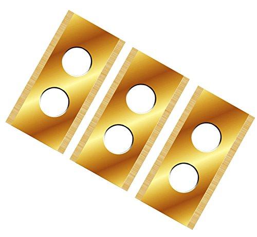 TITAN!! 12 Ersatzmesser extrahart passend für alle WORX Landroid Titan-Karbid beschichtet 2-seitig - wendbar