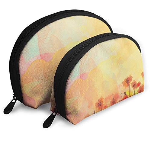 JUKIL Aquarell Abstract Tragbare Taschen Clutch Pouch Coin Purse Cosmetic Travel Storage