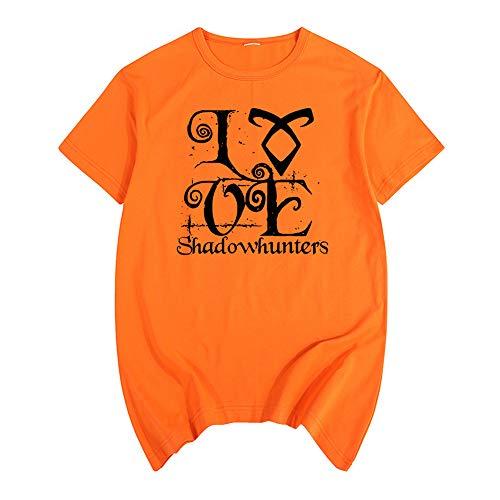 Shadowhunters Camiseta Simple impresión de la Manera cómoda Camiseta de algodón Puro Ocio