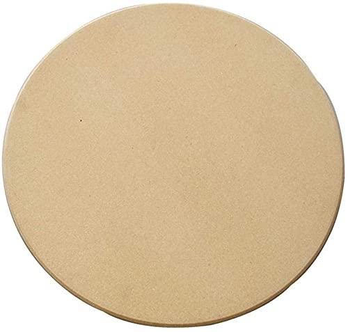 Piedra para pizza de cordierita, Piedra para Pizza Redonda, Piedra para Horno- Piedra para horno redonda para pizza o pan (36CM)