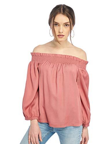 ONLY Damen onlSAMANTHA 3/4 OFF SHOULDER DNM TOP QYT Bluse, Rosa (Canyon Rose), (Herstellergröße: 36)