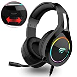 Havit Gaming Headset for PS4 Xbox One PC, RGB Gaming Headphones with 50MM