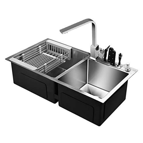 Fregaderos de dos senos Lavar los platos hogar lavabo doble lavabo fregadero...