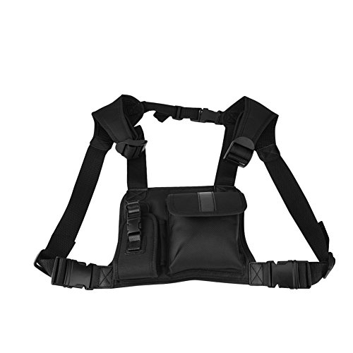 Radio Chest Bag Universele Hands-Free Front Pack Pouch Holster met Nylon voor Two Way Radio Walkie Talkie