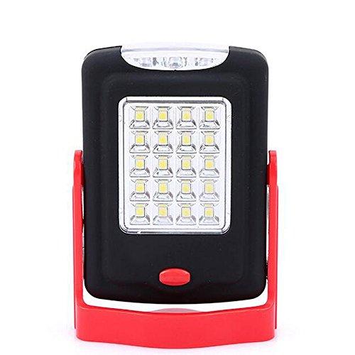 3-Modes de projecteur avec rouge lumière stroboscopique Alimenté Par Batterie lampe de poche Outdoor COB DEL