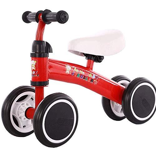 ZXCVB Equilibrio bici Baby Balance acciaio-alto tenore di carbonio Bikes No Pedale a quattro ruote Sport Balance bicicletta GUIDA SICURA Giocattoli bambini Balance bicicletta? No Pedali (Colore: Red B