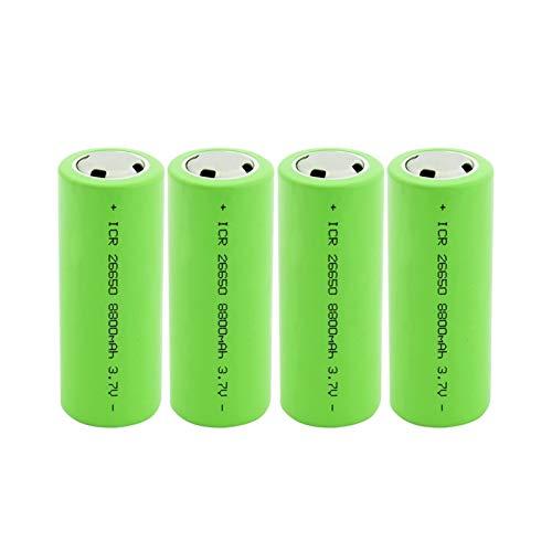 HTRN 26650 3.7v 8800mah Batería Recargable De Iones De Litio, para Batería De Linterna 4PCS