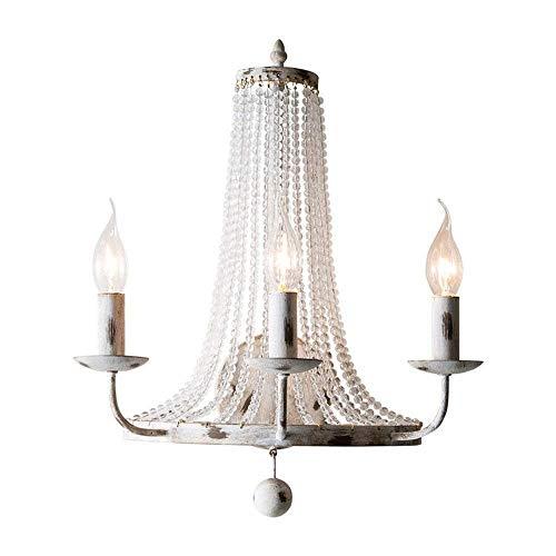 Bradoner Iluminación Interior Lámpara De Pared De Cristal Europeo, Elegante Y Minimalista LED De Hierro Forjado Luz De Las Velas Lámpara De Pared De Moda Dormitorio Moderno Sala De Estar Mesa
