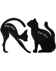 Plantilla de delineador de ojos de gato Easyeeasy Aplicadores de sombras de ojos ahumadas Plantilla de delineador de ojos con forma de gato negro Plantilla de guía de sombras de ojos