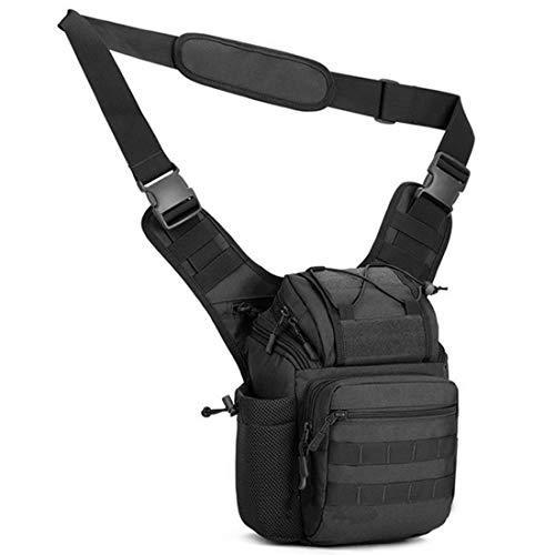 BAIGIO Tactical Messenger Bag Camera Case for Men Women - Water Resistant Camera Shoulder Bag SLR DSLR Case (Black)