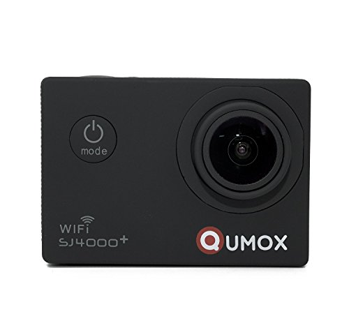 QUMOX multifunzione SJ4000+ Più WiFi 2K HD 1080P 720P impermeabilizzano Action Sports Helmetcamera Digital Video Recorder DVR Camcorder, 12 mega pixel, 170 ° HD grandangolare, con custodia impermeabile multiple Mounts (nero)