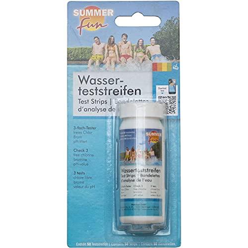 Wasserteststreifen (50 Stück) - pH/chlor/Brom Summer Fun