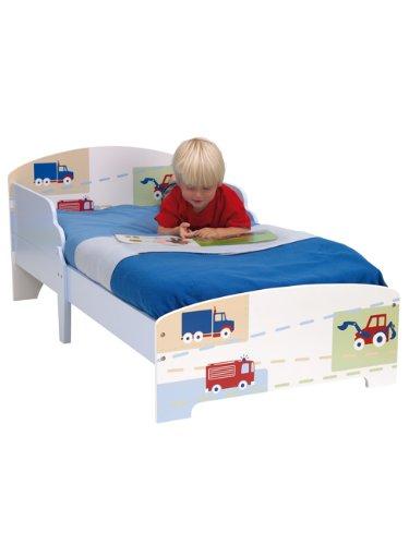 Worlds Apart Garçons véhicule Junior lit pour Tout-Petit MDF + Matelas en Mousse