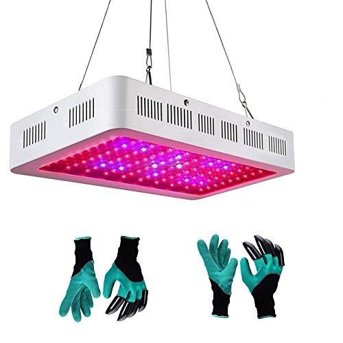 LED Grow Light Full Spectrum Innen Grow Lights mit 2 Handschuhen Genie Garden, Pflanzenlampen für Zimmerpflanzen, 1200 W
