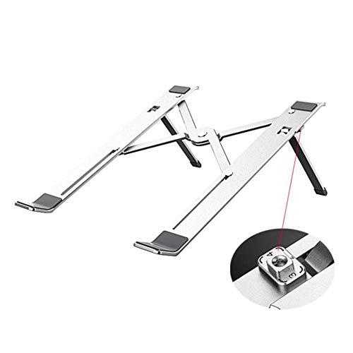 SCYDAO Laptop Stand Ajustable, Soporte con 4 Ángulos Ajustables, Soporte para Portátil Portátil Vertical del Ordenador Portátil Plegable, Apto para 11