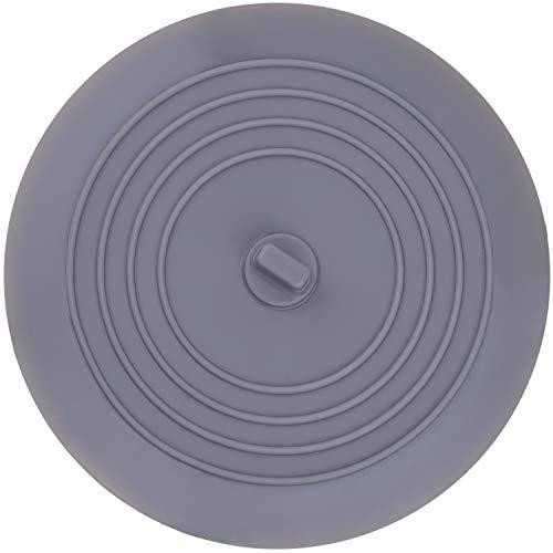 Favson Silikon-Badewannenstopfen für Küchen, Badezimmer und Wäsche, 15,2 cm, Grau