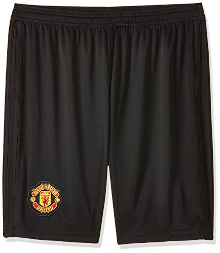 adidas 18/19 Manchester United Home Pantalón Corto, Niños, Negro (Negro/rojrea), 176