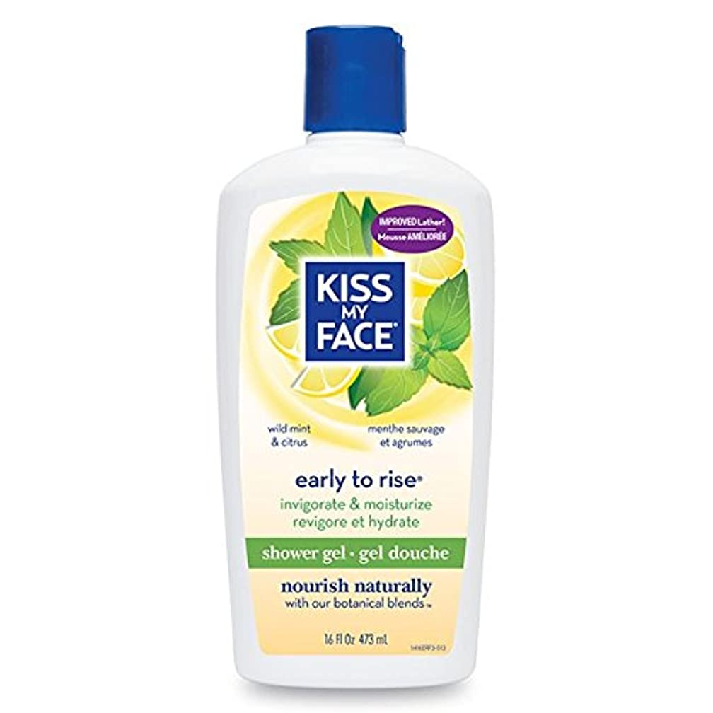 朝ごはんドリル変形Bath & Shower Gel Early To Rise Wild Mint & Citrus - 16 oz by Kiss My Face