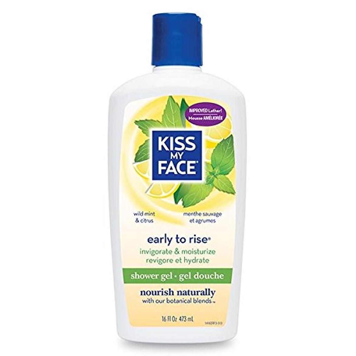 パス高める教えるBath & Shower Gel Early To Rise Wild Mint & Citrus - 16 oz by Kiss My Face