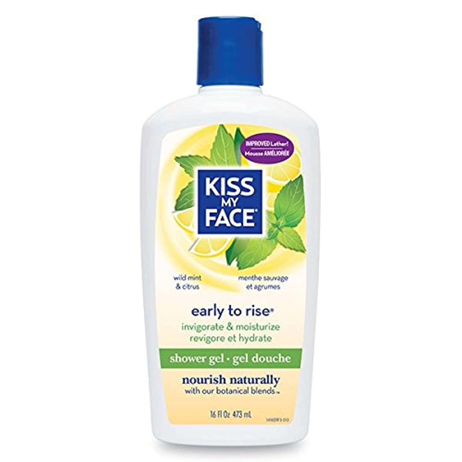 Bath & Shower Gel Early To Rise Wild Mint & Citrus - 16 oz by Kiss My Face
