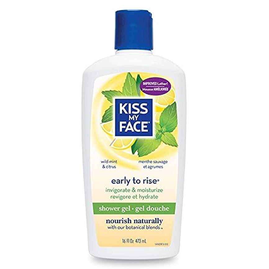 薬局統合請願者Bath & Shower Gel Early To Rise Wild Mint & Citrus - 16 oz by Kiss My Face