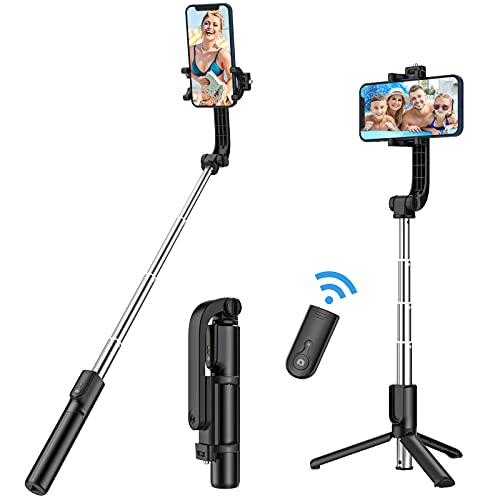 Yoozon Selfie Stick Phone Tripod, All in One Extendable & Portable iPhone Tripod Selfie Stick with Wireless Remote, Compatible with iPhone...