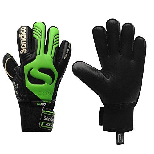 Sondico Unisex Aqua Elite Torwart Handschuhe Schwarz/grün UK 4