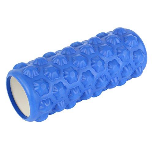 POWRX Faszienrolle Foamroller Massagerolle Pilatesrolle Schaumstoffrolle (Blau - Stern)